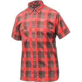 Salewa Puez Ecoya Dry t-shirt Heren grijs/rood